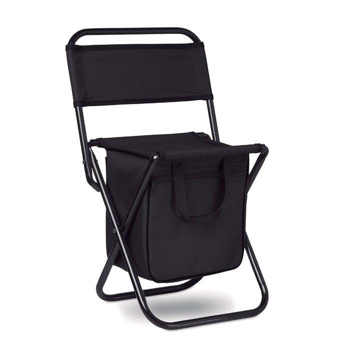 Foldable 600D chair/cooler Sit & Drink - Black