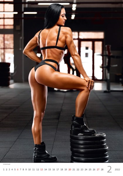 Měsíční kalendář Fitness Girls 2022
