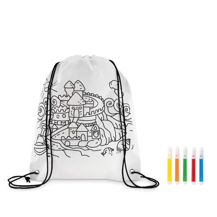 Otroška nahrbtna vrečka s flomastri Carrydraw