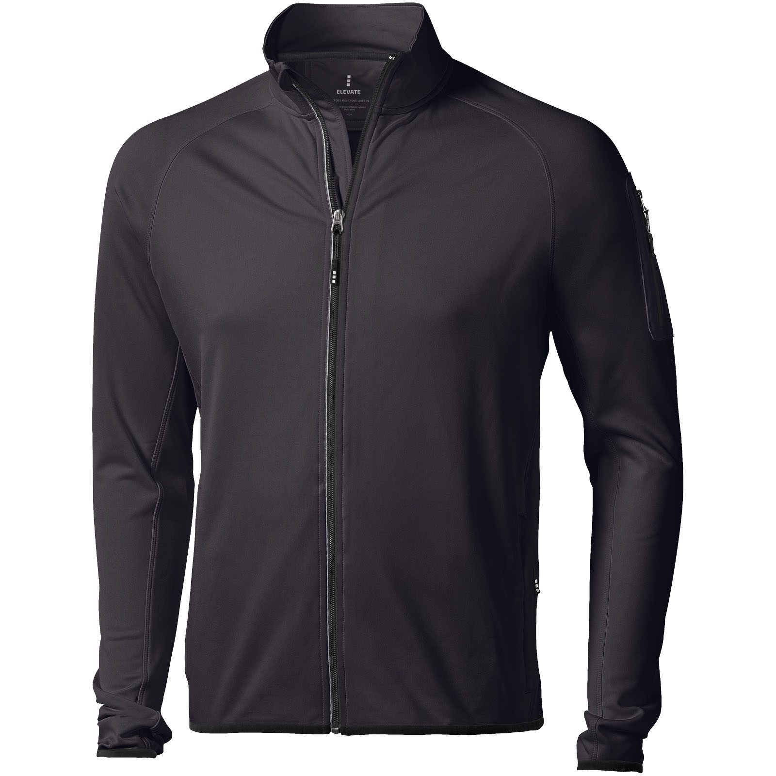 Mani power fleece full zip jacket - Solid Black / 3XL