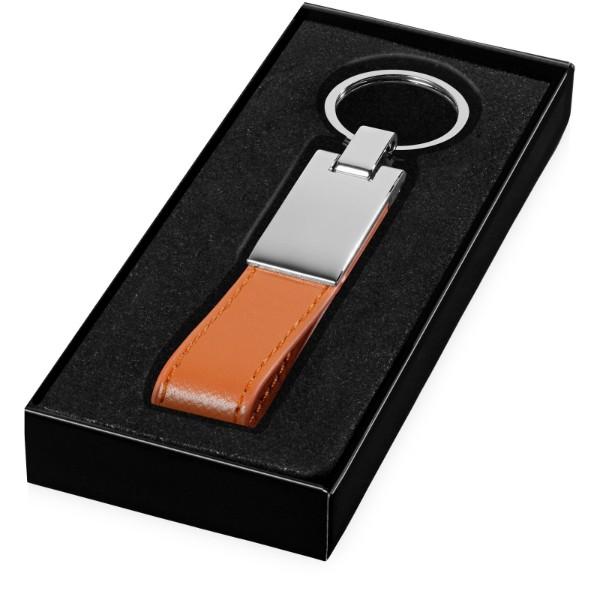 Corsa Gurt-Schlüsselanhänger - Orange / Silber