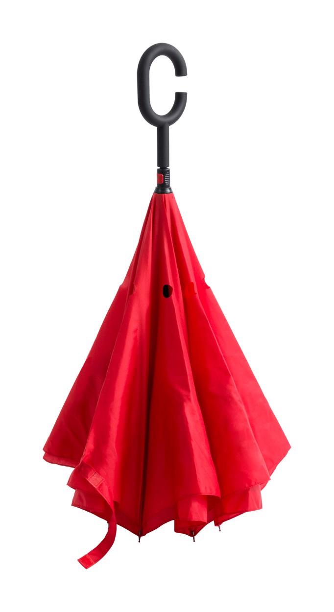 Oboustranný Deštník Hamfrek - Červená