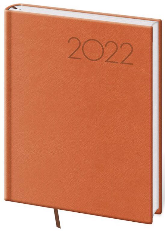 Denní diář B6 Print oranžový 2022