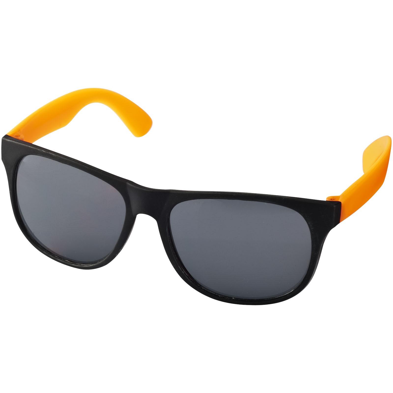 Dvoubarevné sluneční brýle Retro - Neonově oranžová / Černá