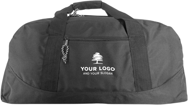 Polyester (600D) sports bag - Light Grey