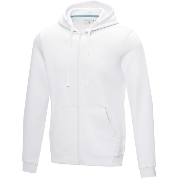 Ruby men's GOTS organic GRS recycled full zip hoodie - White / XXL