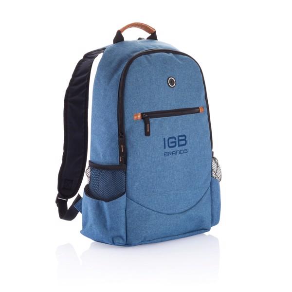 Divatos hátizsák két színben - Kék