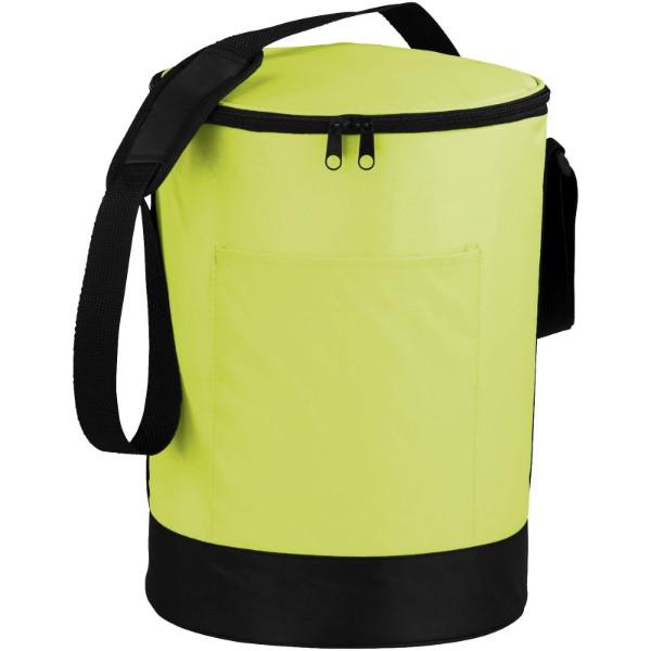 Bucco barrel cooler bag - Lime / Solid black