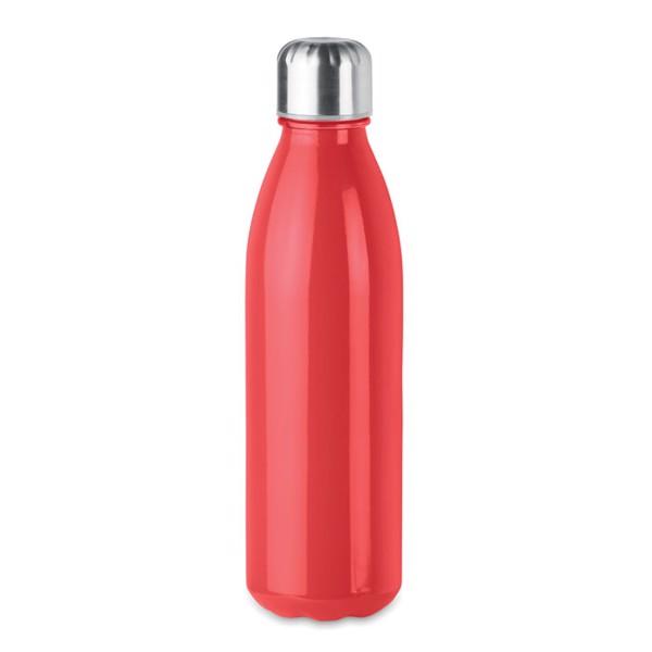 Glass drinking bottle 650ml Aspen Glass - Red