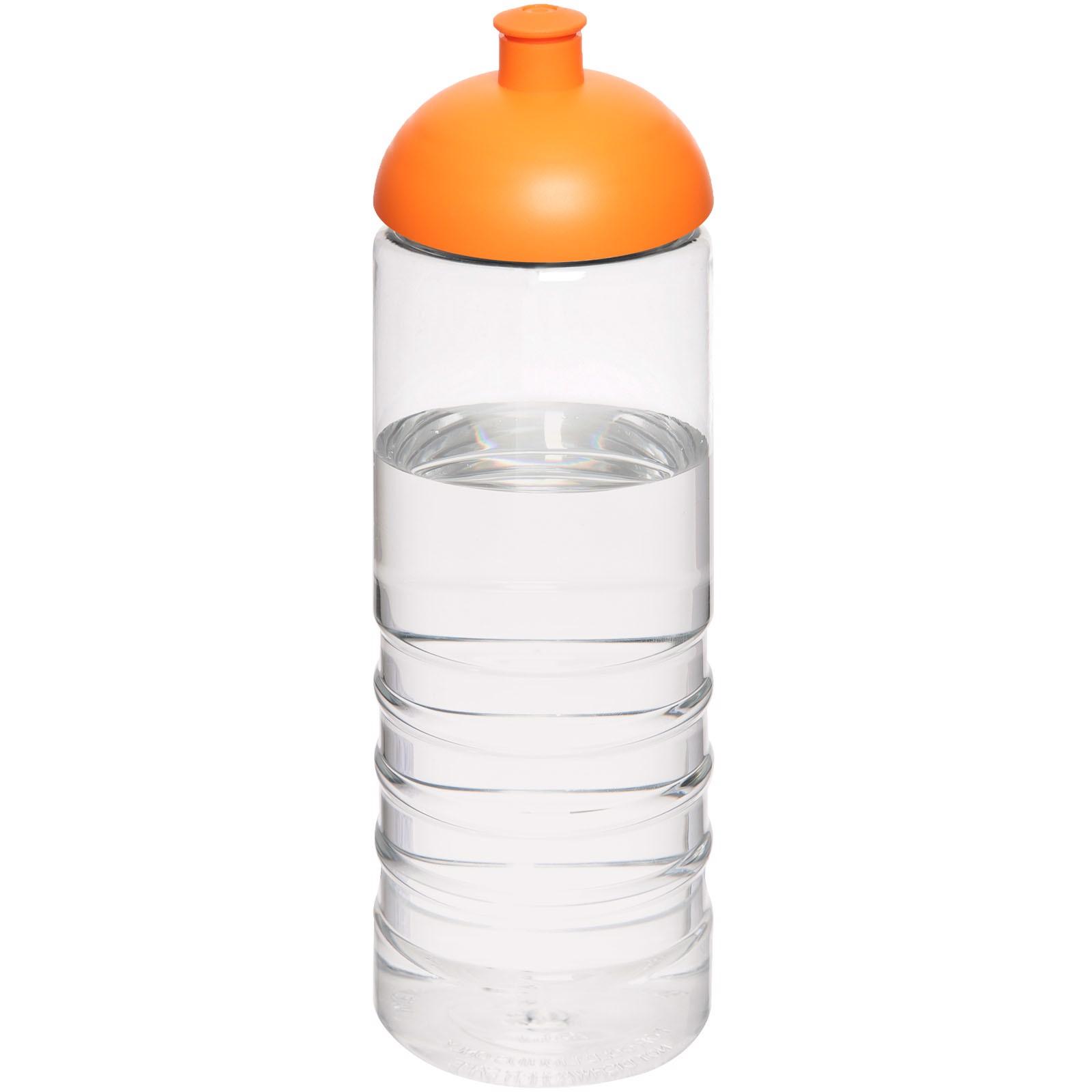 H2O Treble 750 ml sportovní lahev s kupolovitým víčkem - Průhledná / 0ranžová