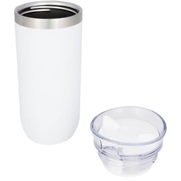 Twist 470 ml copper vacuum insulated tumbler - White