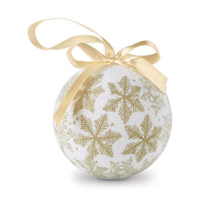 Christmas bauble in gift box Flakies - Gold