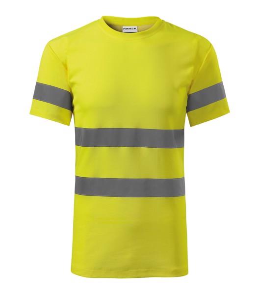 Tričko unisex Rimeck HV Protect - Fluorescenční Žlutá / XL
