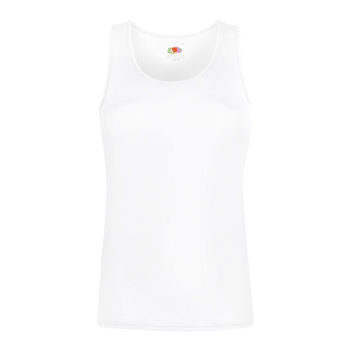 Ladies T-Shirt Sports Lady-Fit Vest 61-418-0 - White / XS