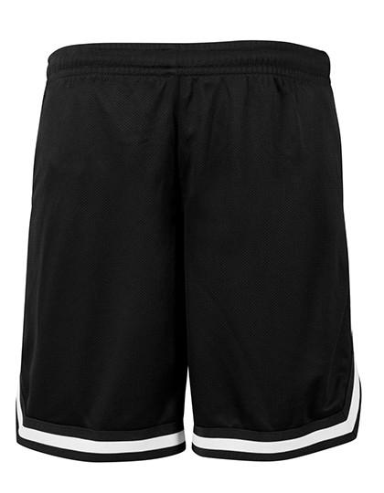 Two-Tone Mesh Shorts - Black / Black / White / XL