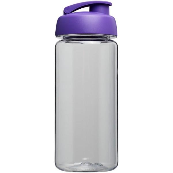 H2O Octave Tritan™ 600 ml flip lid sport bottle - Transparent / Purple