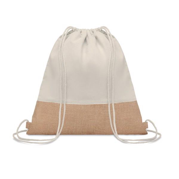 Drawstring bag w/ jute details India