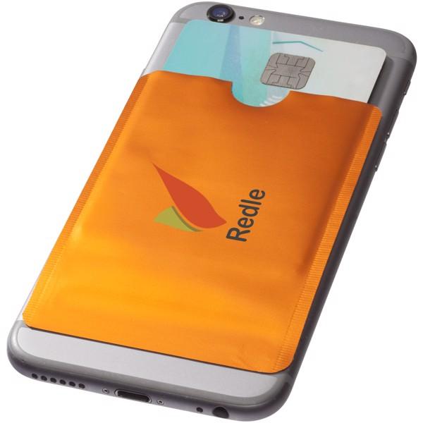 Pouzdro na karty RFID k chytrému telefonu - 0ranžová