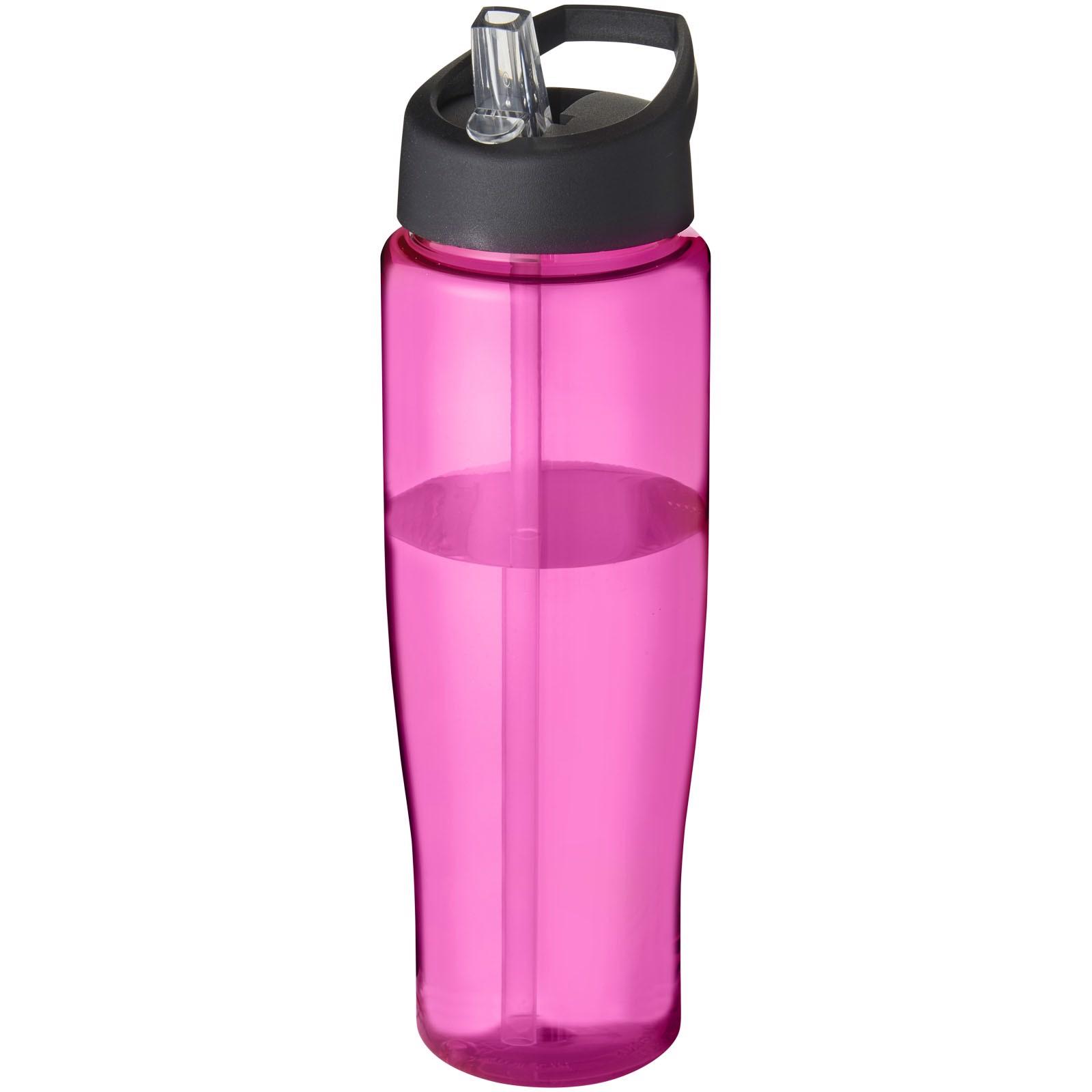 H2O Tempo® Bidón deportivo con tapa con boquilla de 700 ml - Rosa / Negro intenso
