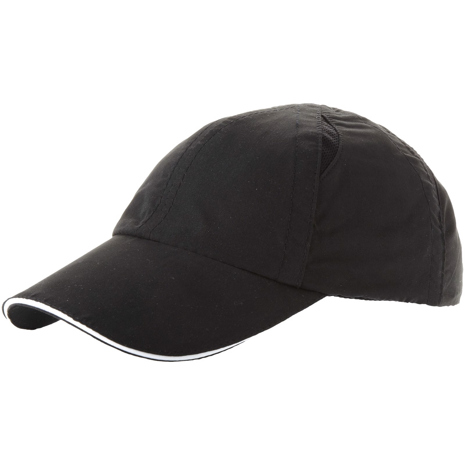 Alley 6 panel cool fit sandwich cap - Solid black