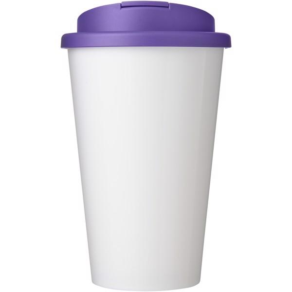 Brite-Americano® 350 ml tumbler with spill-proof lid - White / Purple