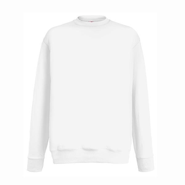 Sweatshirt Lightweight Set-In 240G - 80% Algodão/ 20% Poliéster - White / XL