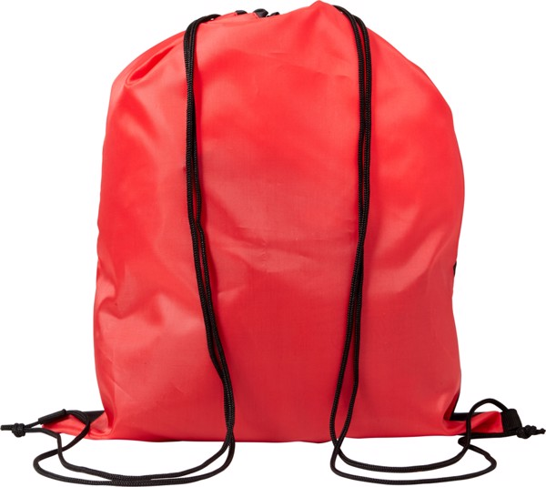 Polyester (210D) drawstring backpack - Red