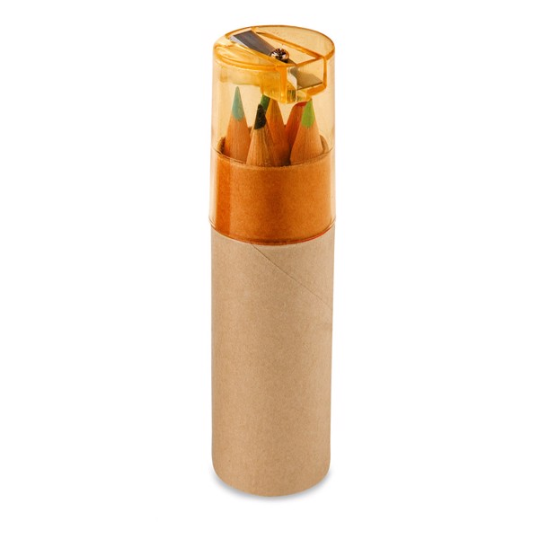 ROLS. Caja con 6 lápices de color - Naranja