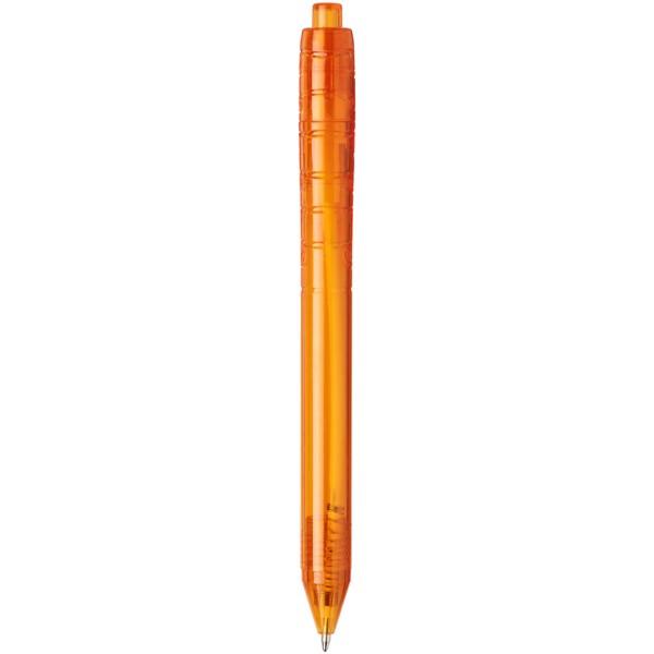 Recyklované kuličkové pero Vancouver - Transparentní oranžová
