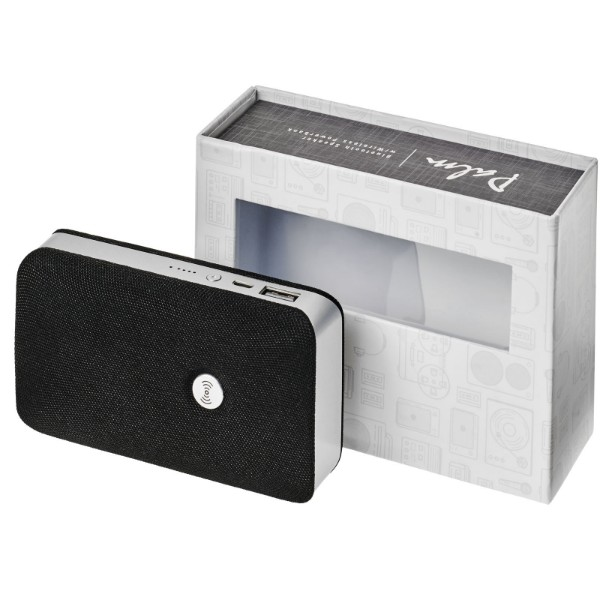 Palm Bluetooth® speaker with wireless power bank