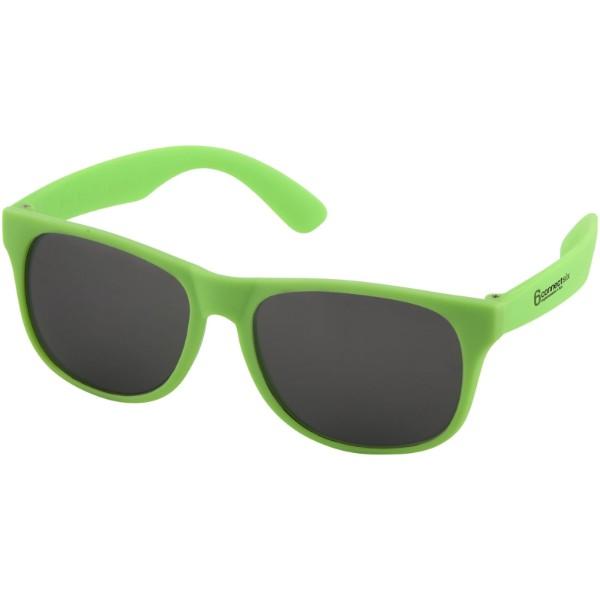 Retro single coloured sunglasses - Neon green