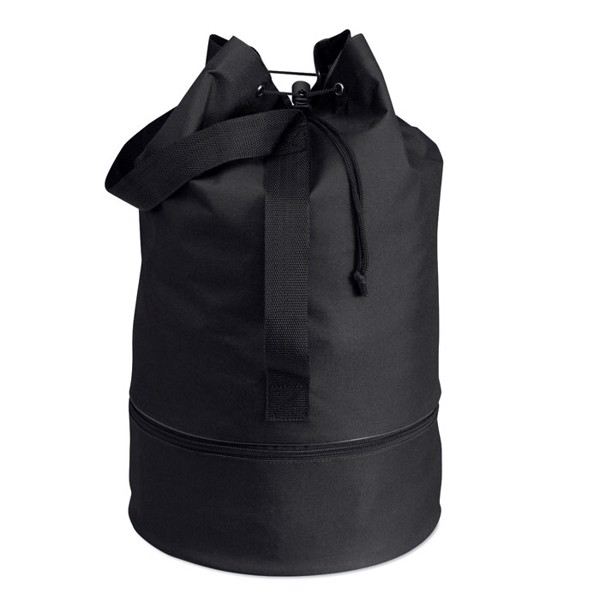 Duffle bag in 600D polyester Pisina - Black