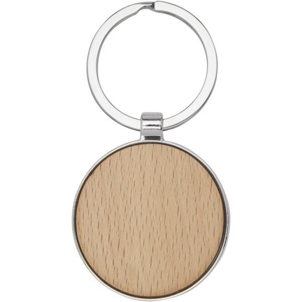 Moreno beech wood round keychain