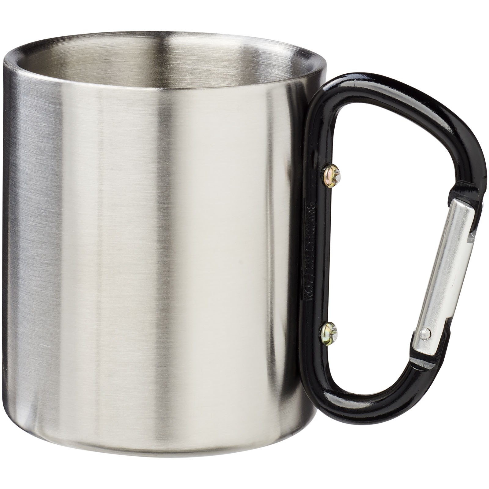 Alps 200 ml insulated mug with carabiner - Solid black