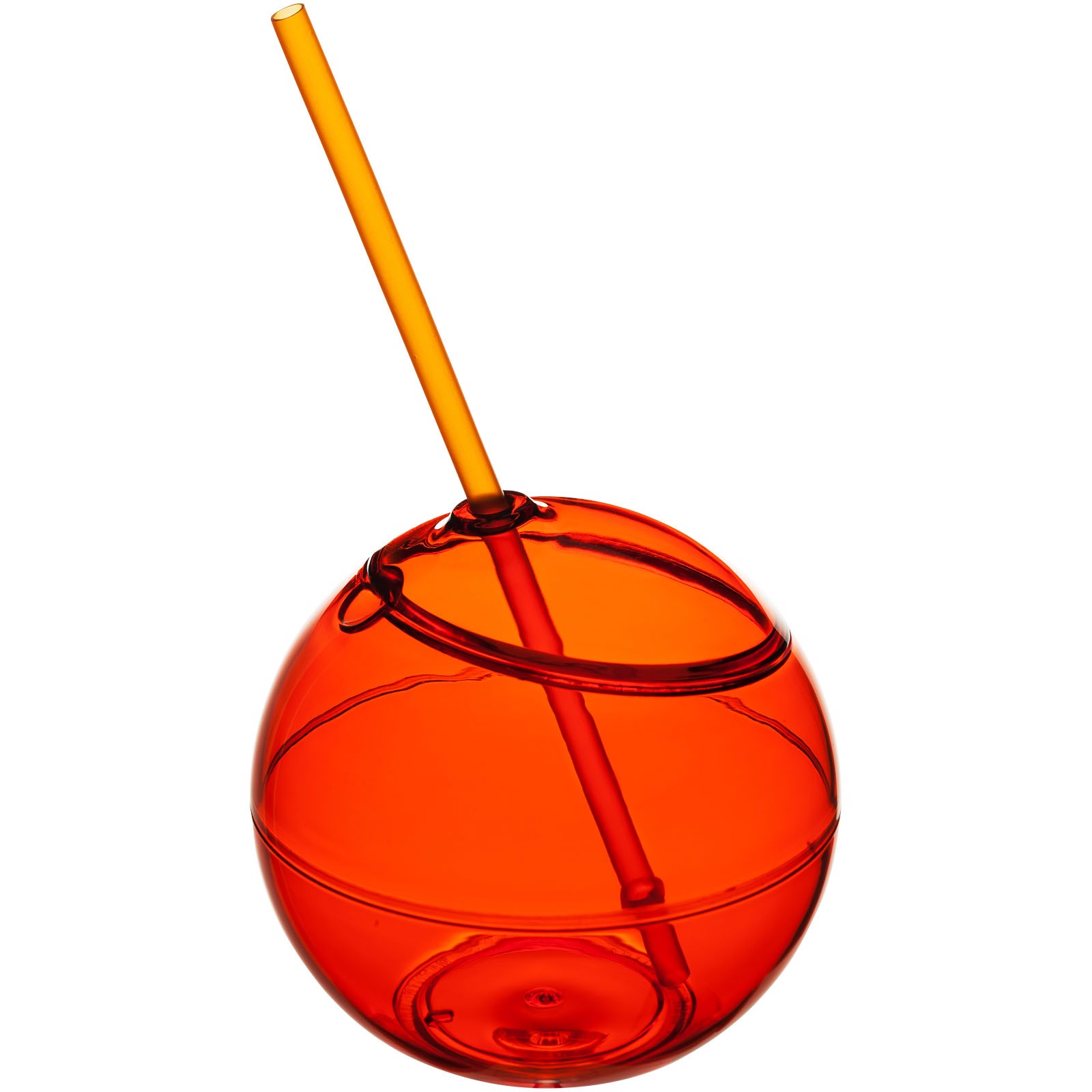 Fiesta 580 ml beverage ball with straw - Orange