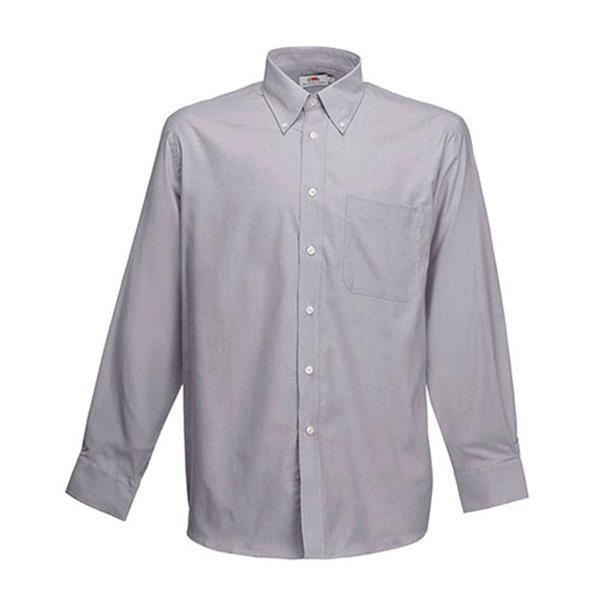 Oxford Lsl Men - Light Grey / 2XL