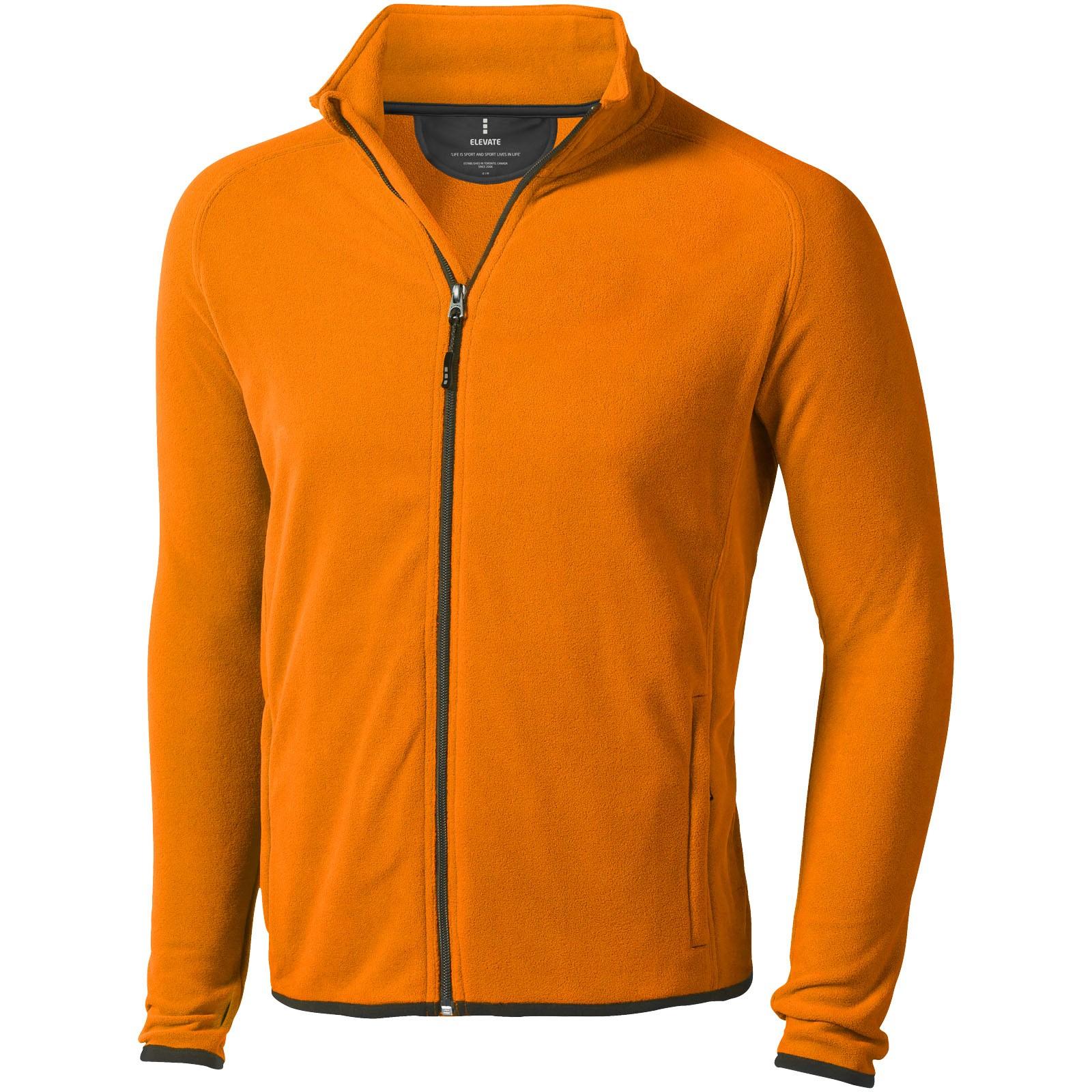 Brossard men's full zip fleece jacket - Orange / M