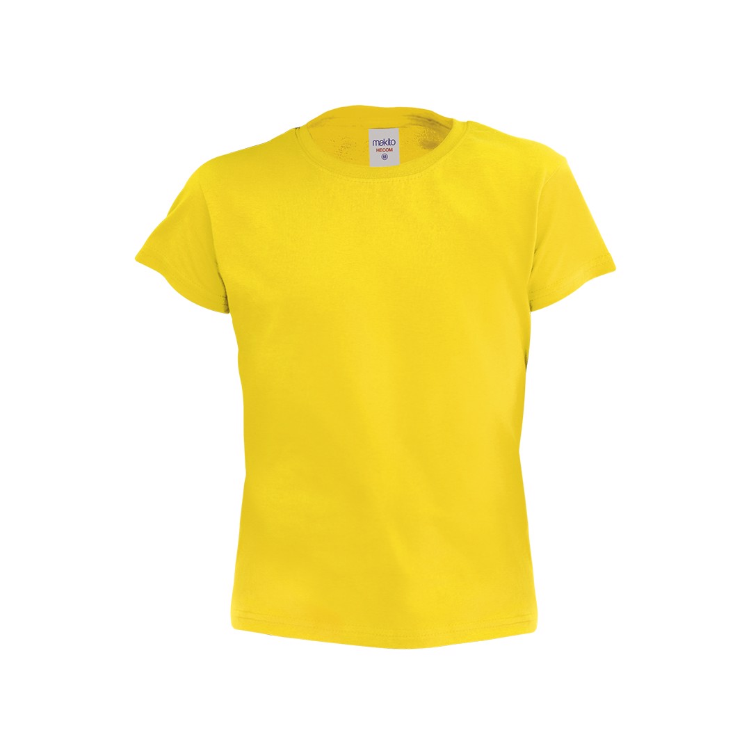 T-Shirt Criança Côr Hecom - Amarelo / 4-5
