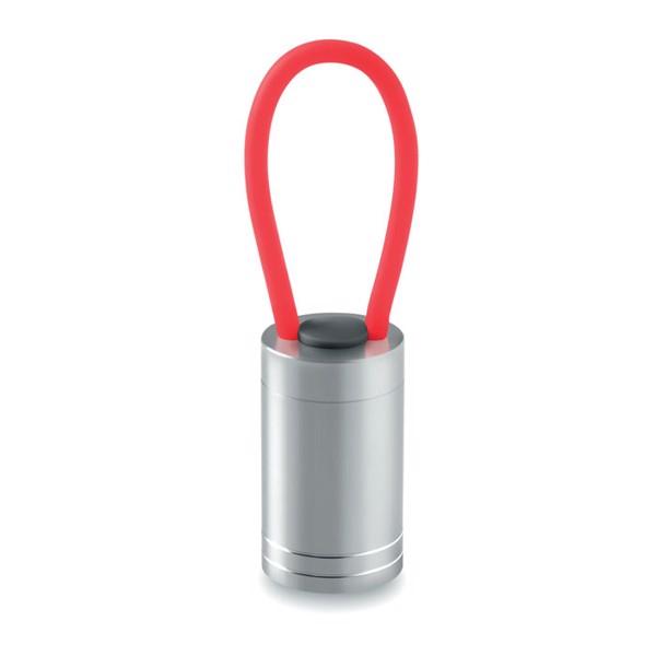 Aluminium torch glow in dark Glow Torch - Red