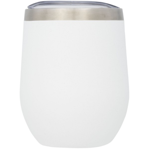 Corzo 350 ml copper vacuum insulated cup - White