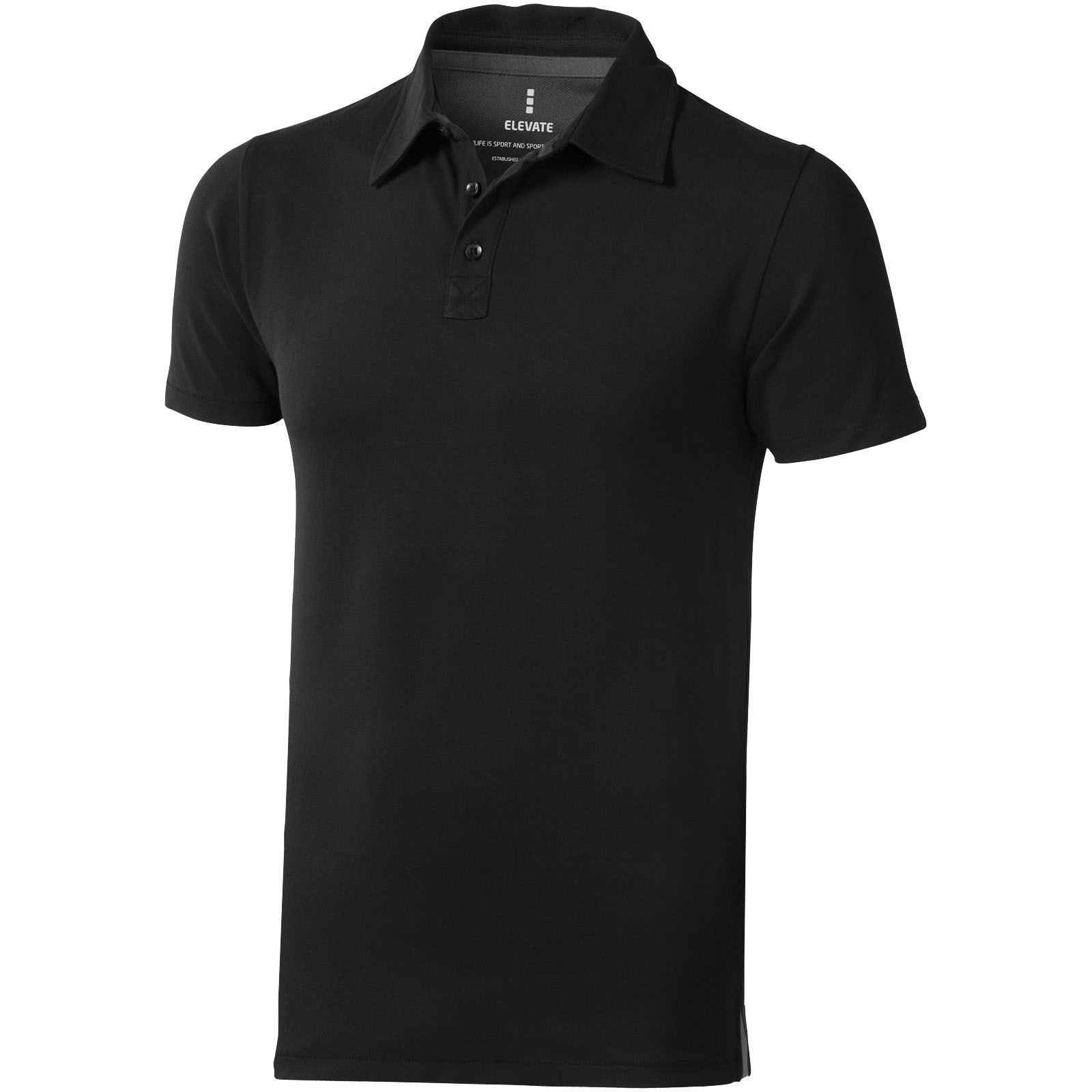 Markham short sleeve men's stretch polo - Solid Black / S