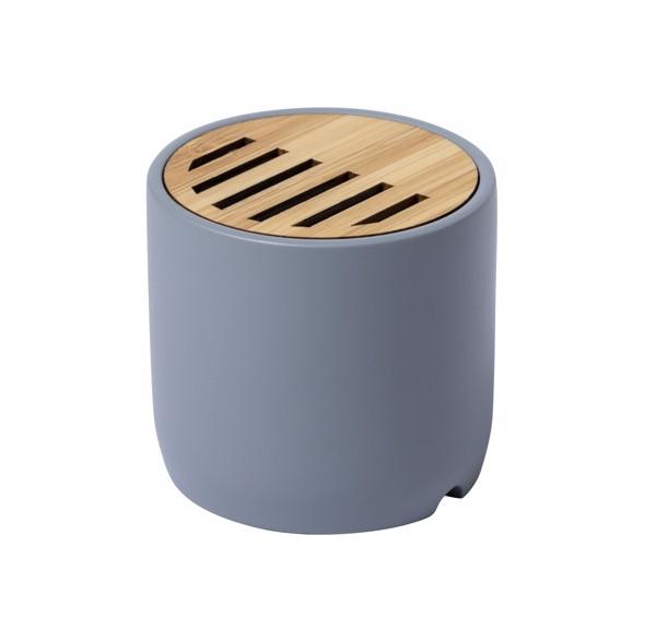 Bluetooth-Lautsprecher Piler - Grau / Natur