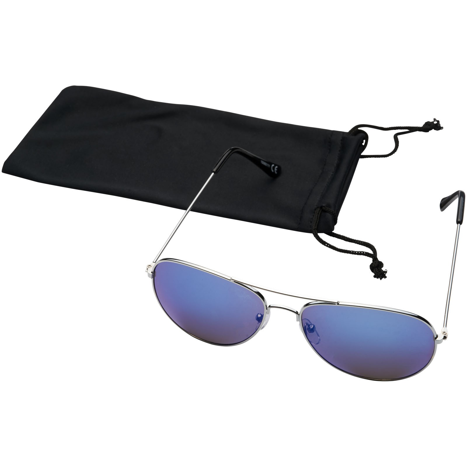 Aviator sunglasses with coloured mirrored lenses - Blue