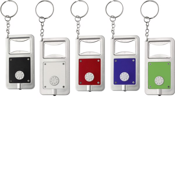 Plastic key holder with LED - Light Blue