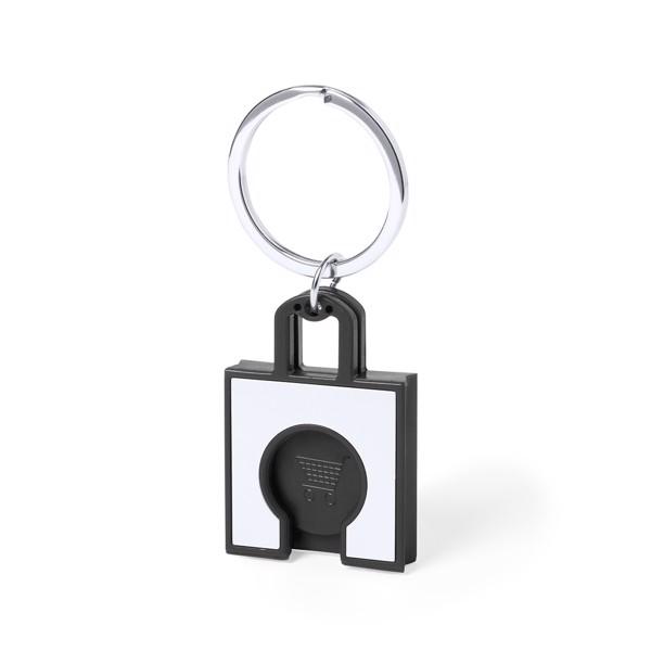 Keyring Coin Fliant - Black
