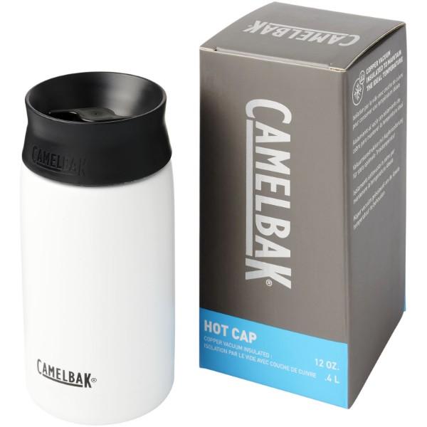 Kubek Hot Cap o pojemności 350 ml izolowany próżnią i miedzią - Biały