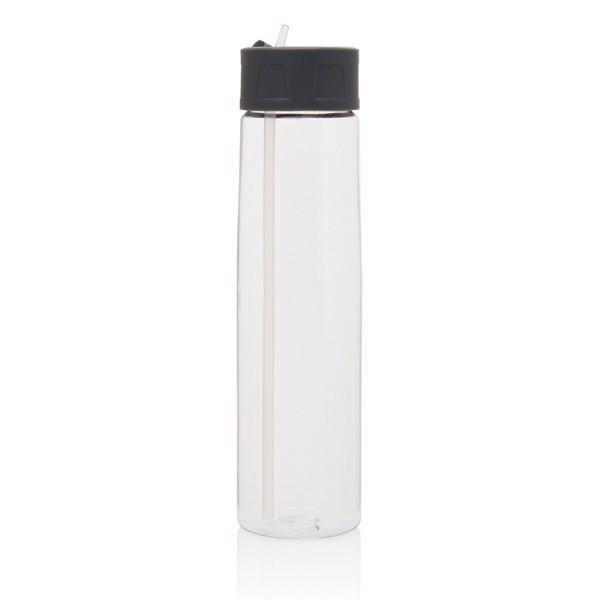 Tritanová lahev sbrčkem - Průhledné / Šedá
