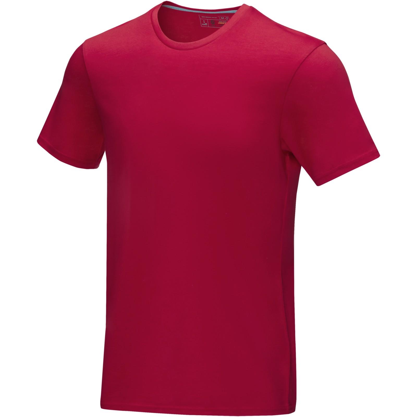 """Camiseta orgánica GOTS de manga corta para hombre """"Azurite"""" - Rojo / S"""