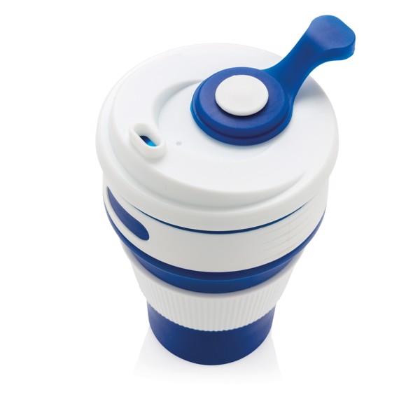Skládací silikonový hrnek - Modrá