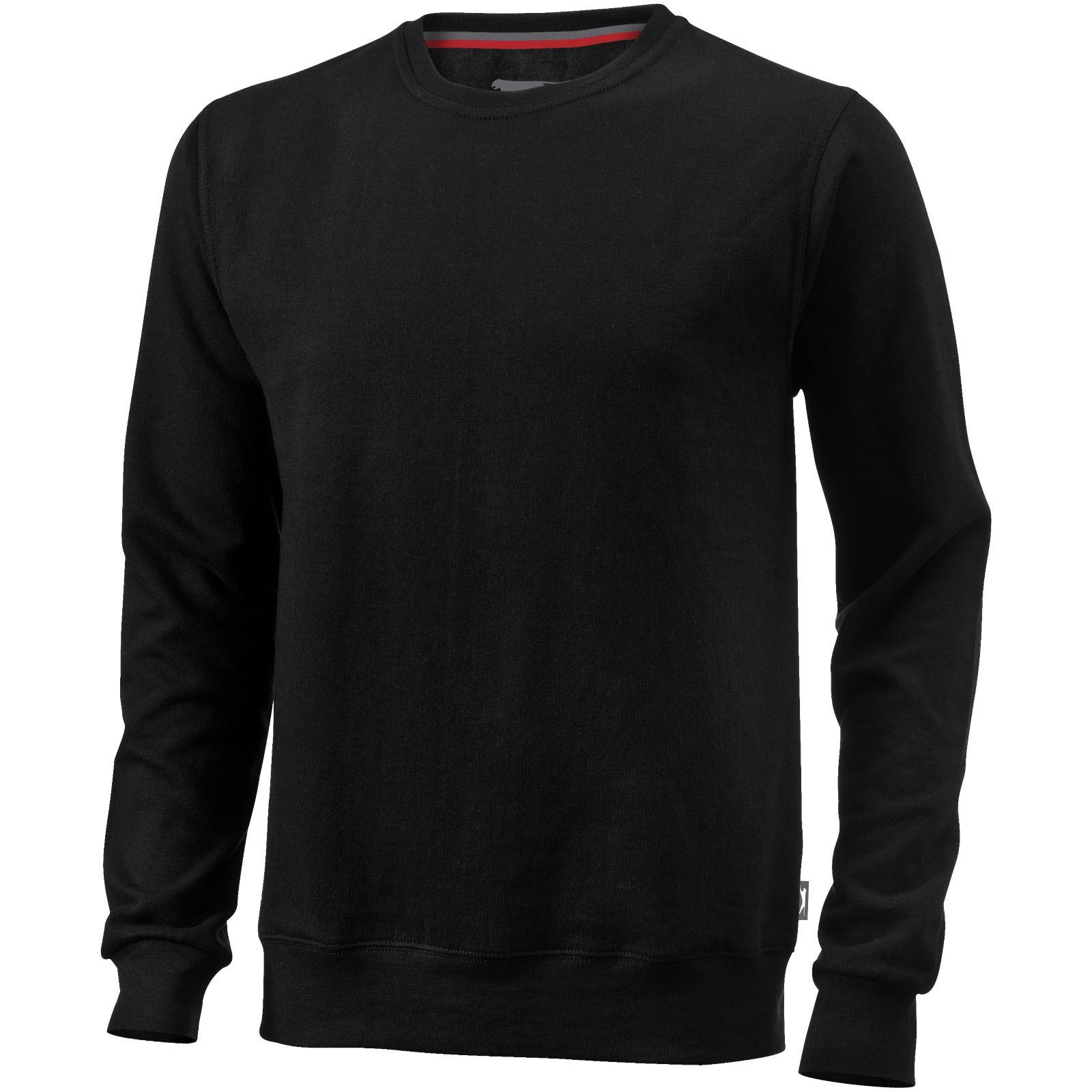 Toss crew neck sweater - Solid black / S